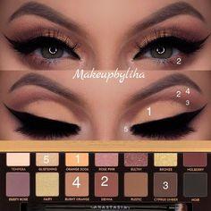 Gorgeous Makeup: Tips and Tricks With Eye Makeup and Eyeshadow – Makeup Design Ideas Kiss Makeup, Glam Makeup, Eyeshadow Makeup, Beauty Makeup, Eyeshadows, Men Makeup, Devil Makeup, Gorgeous Makeup, Love Makeup