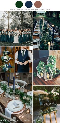 10 Best Winter Wedding Color Palettes for 2019 & 2020 dark moody navy and forest green rustic chic winter wedding colors Always wanted to be able to knit, although not certai. Emerald Wedding Colors, Winter Wedding Colors, Emerald Green Weddings, Winter Weddings, Blue Weddings, December Wedding Colors, Hindu Weddings, Outside Winter Wedding, Winter Wedding Ideas