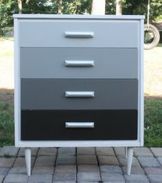 Mid Century Modern Ombre Dresser. I would do different colors though