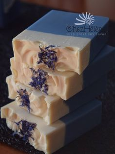 Lavender & blue cornflowers handmade soap by ChezHelene