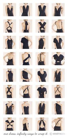 Do you need to know how to wrap your infinity dress? here see more than 20 styles! Backless, one shoulder, strapless, asymetrical, sleeves, V neckline, ¿Quieres saber cómo ajustar su vestido convertible? mira aquí más de 20 estilos! http://mimetikbcn.com/e-shop/