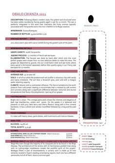 2013 Obalo Rioja. Had it as a Special Wine of March 2016. Very nice. 89/100