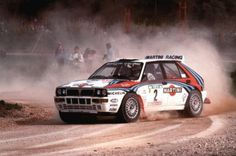 The mythical Lancia Delta Integrale sponsored by Martini Racing team