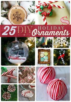 25 diy holiday ornaments for some fun christmas projects this season Christmas Ornaments To Make, Simple Christmas, Christmas Projects, Handmade Christmas, Holiday Crafts, Holiday Fun, Christmas Holidays, Christmas Bulbs, Christmas Decorations