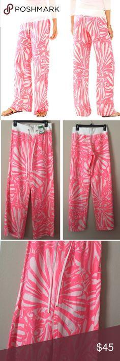 "Lilly Pulitzer beach pants ""Pink sun Ray shimmy shimmy"" Bundles available! Lilly Pulitzer Pants"