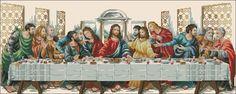 "Free Cross-stitch pattern ""The Last Supper"""
