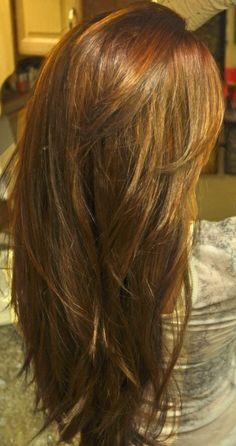 Layered hair cut for long hair