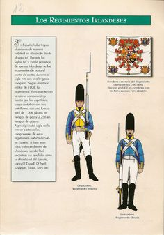 Spanish-Irish Regiments of the Napoleonic Wars -- 1808 Lead Soldiers, Toy Soldiers, Empire, The Wild Geese, Army Uniform, Spain And Portugal, Napoleonic Wars, Military Art, Revolutionaries