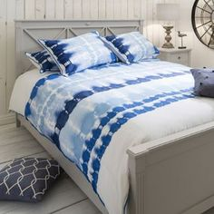Fairwater Blue Quilt Cover Set, Available in 4 Sizes - Starting from £55 | brandinteriors.co.uk