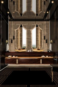 Black bathrooms are a big trend this year! You can create a bathroom full of glamour and luxury through black pieces and materials.
