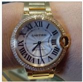Cartier Ballon Bleu in 18k gold and diamonds.