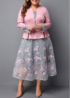 Plus Size Dress Peplum Waist Dress Pink Dress Long Sleeve Dress Plus size Peplum Waist Pink Dress Pink Plus Size Dresses, Plus Size Peplum, Dresses For Sale, Plus Size Outfits, Dresses Online, Cute Plus Size Clothes, Trendy Dresses, Fall Dresses, Long Dresses