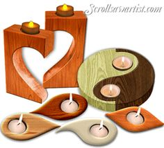Scroll Saw Patterns :: Lighted projects -