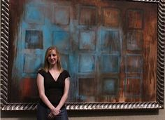 Me in front of painting at Consol Energy