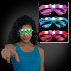 Fun novelty LED sunglasses for every occasion.  4 choices of colorful plastic.  3 bright LEDs: 1 red, 1 green, 1 blue  One size fits all adults and most children.  Run time 6+ hours  Modes: Flashing On and Off   | Shop this product here: http://spreesy.com/FlashicaUSA/84 | Shop all of our products at http://spreesy.com/FlashicaUSA    | Pinterest selling powered by Spreesy.com