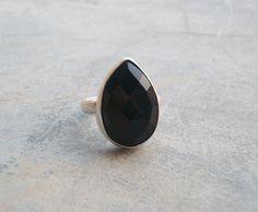 Bold Black onyx ring