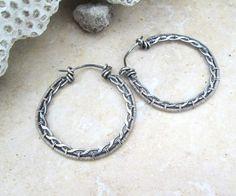 sterling silver braided hoop earrings by EdisLittleTreasures, $58.00
