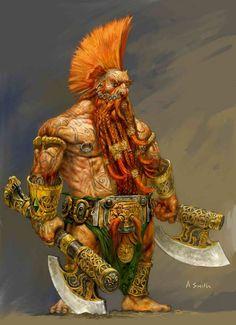 Dwarf 'slayer' for 'warhammer online' by Adrian Smith adrian-smith