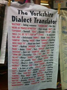 """The way Yorkshire accents do that trillish thing with """"r"""" sometimes, similar to Welsh or Scots - sounds brilliant"""