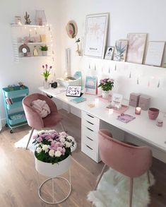 office design Home Office Ideas For Two ; Home Office Ideas Home Office Space, Home Office Design, Home Office Decor, Diy Home Decor, Room Decor, Office Ideas, Office Table, Kitchen Office, Office Designs