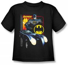 Batman Batmobile Kids T Shirt
