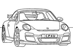 Classic Porsche 911 GT3 coloring page.  Find more awesome coloring pages of cars at...  http://www.coloringpages4u.com/car_coloringpages