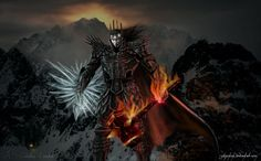 Morgoth in front of Angband by sayjinlink.png