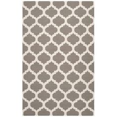 Wool rug with a Moroccan trellis motif. Hand-woven in India.    Product: RugConstruction Material: WoolColor: Taupe and whiteFeatures:  Made in IndiaHand-woven Note: Please be aware that actual colors may vary from those shown on your screen. Accent rugs may also not show the entire pattern that the corresponding area rugs have.Cleaning and Care: Blot stains