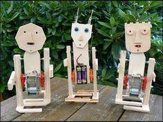 Make A Robot, Diy Robot, Robots For Kids, Science For Kids, Stem Projects, Projects For Kids, Diy For Kids, Crafts For Kids, Cultura Maker