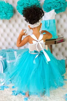 Tiffany and Co inspired tutu dress-Audrey Hepburn inspired tutu dress-Tiffany Blue Tutu Dress