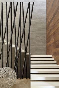 contemporary stone and wood || лестница