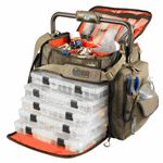 Wild River FRONTIER Lighted Bar Handle Fishing Tackle Bag w/5 Trays