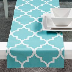 Turquoise- exactly what my dining room chair fabric looks like, except the lines are brown