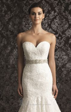 Allure Sash S59 by Allure Bridals Sashes.  Many beautiful beaded sashes on this site. :)