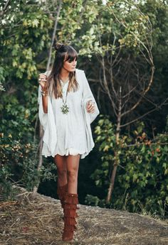 25 Ways to Wear Fringe featuring Tessa | Minnetonka Moccasin