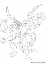 Ben 10 Coloring Pages On Book