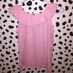 Lilly Pulitzer Pink Ruffle Tank Fits XSmall It is actually Girls size XL but fits XS in women's Lilly Pulitzer Tops Tank Tops