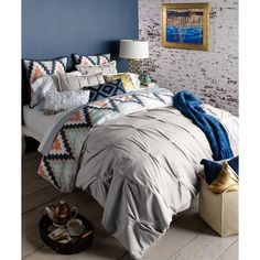 Harper 3 Piece Cotton Duvet Cover Set