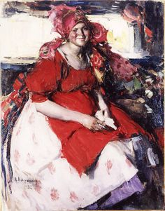 Abram Efimovich #Arkhipov, A Young Peasant Woman, Signed and dated 1926, Oil on canvas