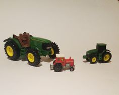 Ertl diecast toy tractor, John Deere diecast tractor, Tomita toy tractor by VtgTreasureTroves on Etsy