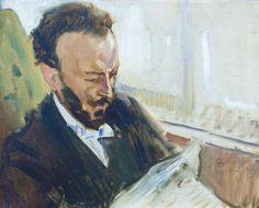 Max Slevogt, Der Sänger Francisco d'Andrade, Zeitung lesend, 1903