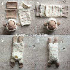 DIY Craft Ideas: #12 Socks Made Animal Soft Toys for Kids - Diy Food Garden & Craft Ideas