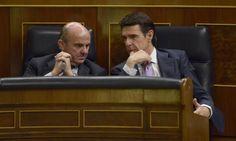 PSOE Unidos Podemos y C's exigen que De Guindos explique el 'caso Soria' en el Congreso la próxima semana