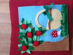 Quiet book picking apples, I really enjoyed making this page