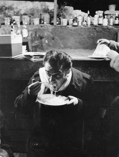 Eeyore's eye — lottereinigerforever:   Federico Fellini eating...