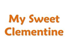 My Sweet Clemintine orange