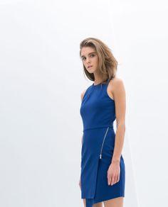 Zara Zip-up Dress - modern workwear