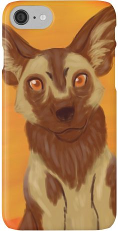 African Wild Dog Iphone Case by thekohakudragon #africanwilddog #painteddog #africa #endangered #animals