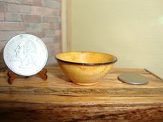 """Dollhouse Miniature 1:12 Cookware & Tableware Bowl Handcrafted """"Oppi"""" OOAK #Q11 
