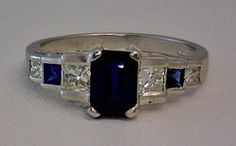 (23-00576-10) 14k White Gold - 1.0 ct Sapphire